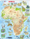 Africa Map with Animals - Frame/Board Jigsaw Puzzle 29cm x 37cm (LRS  A22-GB)